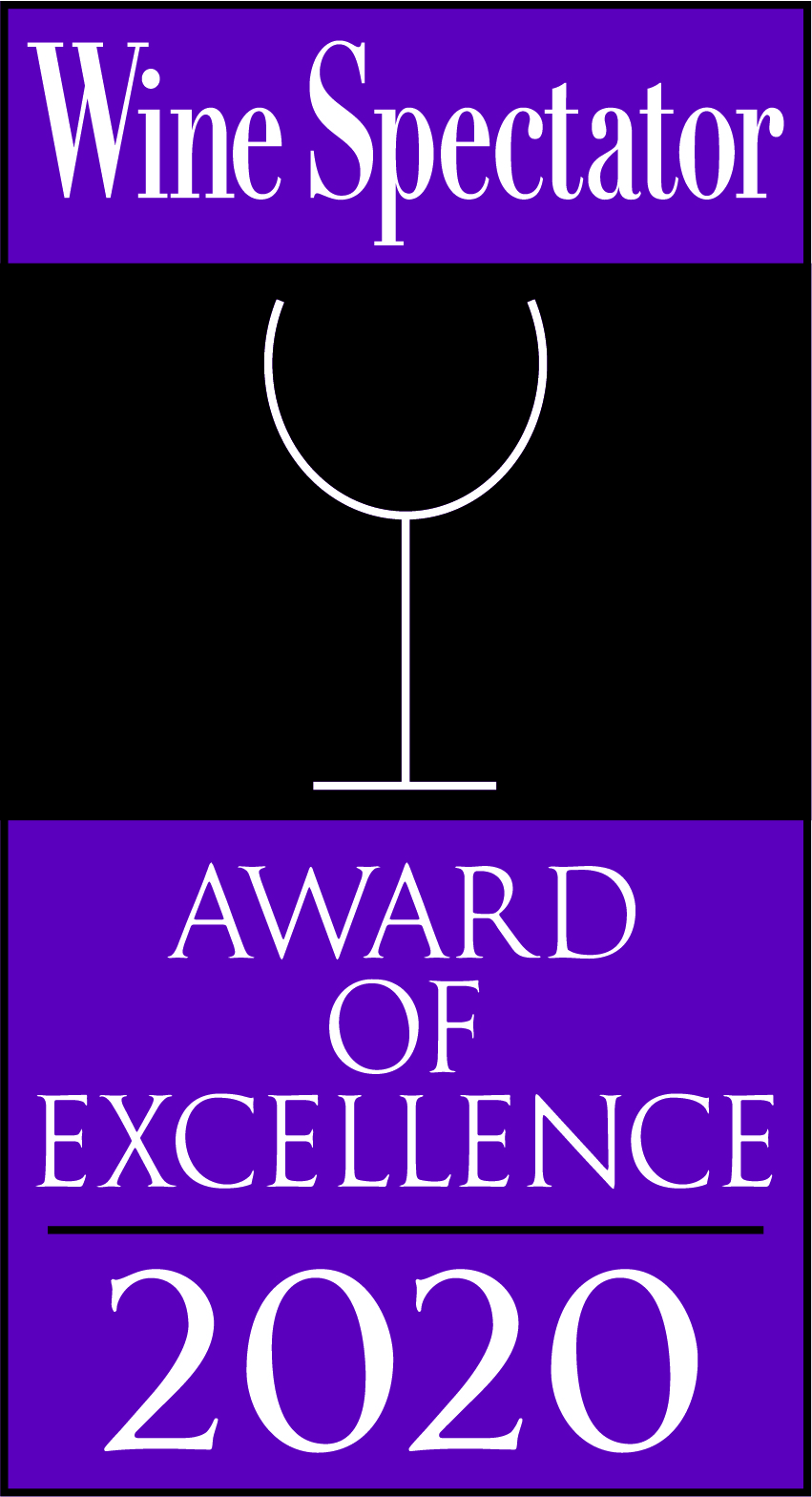 Wine Spectator 2020 Award of Excellence Winner
